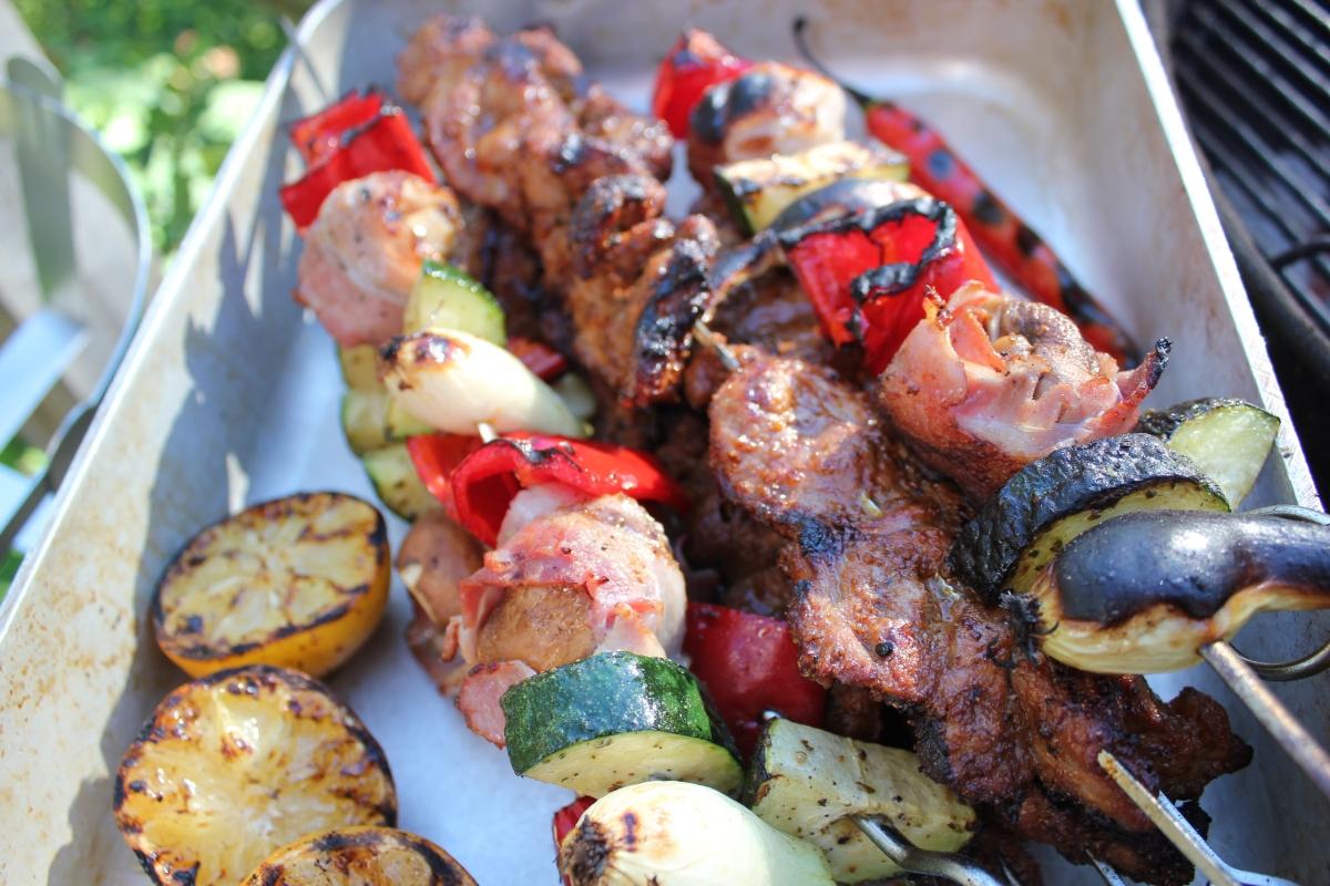 Grillspett med sommarens godaste kryddblandning